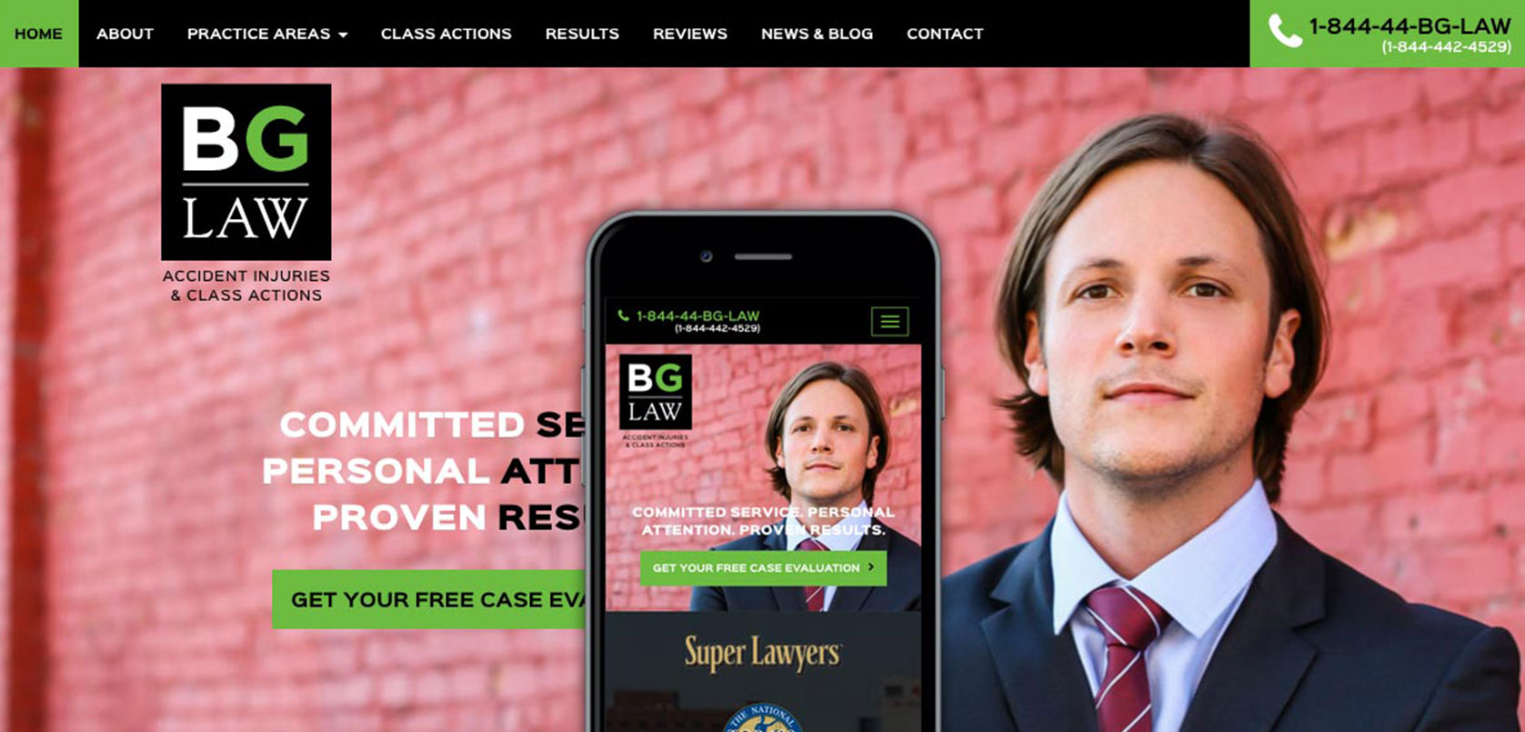 BG Law Website Design
