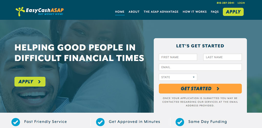 Easy Cash ASAP Website Design